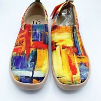 UIN Art Of Walk Shoes Color Brush Orange Red Spain Size 41/9 New
