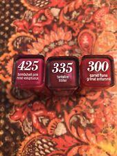 3 tube lot Covergirl Colorlicious Lipstick 425, 335, 300