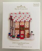 Hallmark 2008 Noelville #3 Series Gingerbread Lane Christmas  Keepsake Ornament