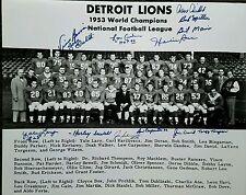 1953 World Champs Detroit Lions 16x20 team photo Autographed by 13 w3 HOF 9D COA