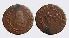 FRANCIA FRANCE - LUIGI XIII 1610-1643 -MI/ DOPPIO TORNESE 1632 LIONE