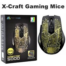 Gaming Mouse MorroLogic Tron 5000 Optical Mice 5 Program PC USB LED Lighting NEW