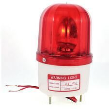 Industrial AC 110V Flash Siren Emergency Rotary Warning Light Red