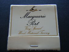 MACQUARIE PORT VERY SPECIAL WOOD MATURED TAWNY EST 1843 MATCHBOOK
