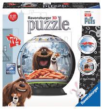 12192 Ravensburger The Secret Life of Pets 3d Puzzle 72pcs Jigsaw Kids 6yrs