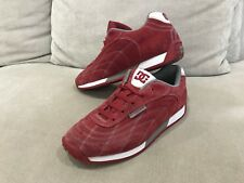 Womens DC SHOES Red Suede Sneakers skateshoes Size US 8.5 UK 6.5