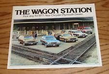 Original 1977 Chrysler Plymouth Station Wagon Sales Brochure 77 Fury Voyager