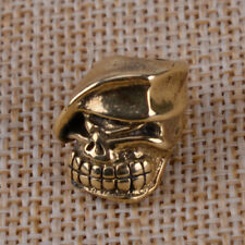 EDC Knife Beads Copper Beret Skull Lanyard Bead for Paracord Knife Tool Pendant