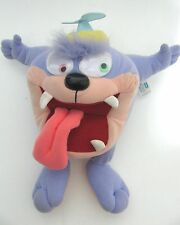 "Vtg Tazmanian Devil Purple Monster Plush Dizzy Googly Eyes 12"" Playskool Toon"