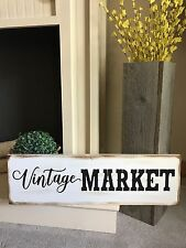 Vintage Market Farm House Rustic Kitchen Fixer Upper Style White Wood Sign