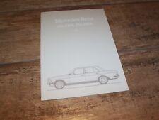 Catalogue / Brochure MERCEDES BENZ 230 / 230E / 250 / 280E 1982 / 1983 //