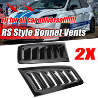 For Ford Focus RS MK2 Style Bonnet Vents Hood Cover Trim Glossy Black
