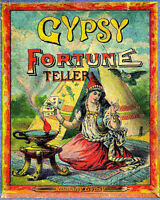 gypsy fortune teller VINTAGE ENAMEL METAL TIN SIGN WALL PLAQUE
