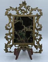 Antique Brass Victorian Ornate Picture Frame Mirror