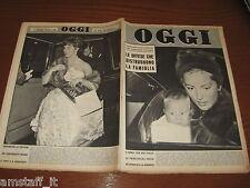 RIVISTA OGGI 1960/48=PAOLA DI LIEGI=MARGARET=MINA MAZZINI=MAY BRITT SAMMY DAVIS