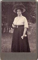 CDV photo Feine Dame mit schönem Hut - 1900er