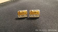 2 -Lucky's 10 & 15  Year Service Tie Tack Lapel Pins 10K Gold CTO