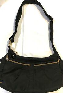 TRAVELON Organizer Crossbody Shoulder Satchel Bag Purse RFID Shield Black