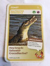 Taronga Zoo Woolworths Aussie Animal Card #1 Saltwater Crocodile