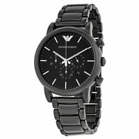 Emporio Armani Mens Chronograph Watch Stainless Steel Strap Black Dial AR1895