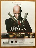 Hitman: Contracts PS2 Playstation 2 Xbox PC 2004 Poster Ad Art Print Promo Rare