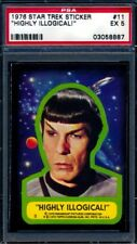 1976 Topps Star Trek Stickers — Highly Illogical! #11 — PSA 5 — HIGH END