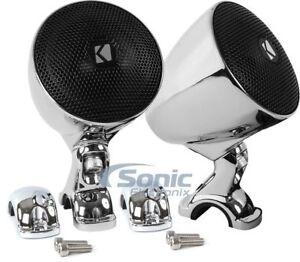 """Kicker PSM3 100W RMS 3"""" Weather-Proof Enclosed Motorcycle Handlebar Speakers"""