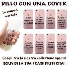 CUSTODIA COVER IN GOMMA CON FRASE PERSONALIZZATA DA SCEGLIERE PER IPHONE 7