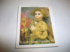 Puppen Dolls 1991 Mini Kalender Calendar Weingarten