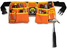 11 Pocket Tool Belt Apron Pouch Bright Orange & Yellow Canvas w/ Quick Release.