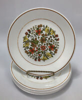 """Set of 6 Corelle Corning INDIAN SUMMER Floral Lunch Salad 8.5"""" Plates #2 AA"""