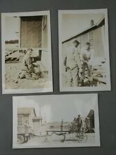Canadian Military WW2 Photo Lot Building Barracks Camp Jeep Pulling Road Grader