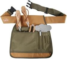 Esschert design Large Thick Garden Adjustable Spacious Tool Belt Bag Green