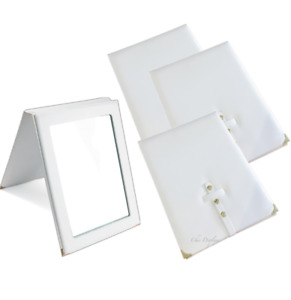 4pc Countertop Mirrors White Mirror Folding Mirror Travel Mirror Lots Displays