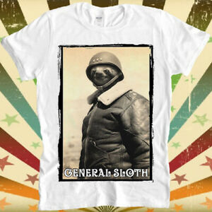 General Sloth Funny Soldier Swag Dope Retro Vintage Hipster Unisex T Shirt 1562