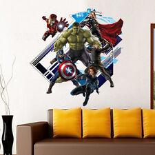 Vista 3d Los Vengadores Capitán América pegatinas de pared Wall Decals Pvc Papel Tapiz del Reino Unido