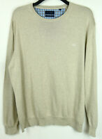 CHRISTIAN BERG Men's Beige Pima Cotton Sweater XL Jumper Crew Neck Pullover Top
