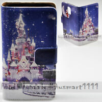 For OPPO Series - Christmas Castle Theme Print Wallet Mobile Phone Case Cover