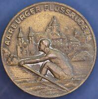 """Swiss Switzerland 1945 rowing medal """"aarburger fluss rudern"""" *[15473]"""