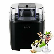 Aicok Ice Cream Maker, Frozen Yogurt and Sorbet Machine 1.5L, Black