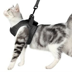 Cationic Cat Harness and Leash Set for Walking 360° wrap,Harness Cushioning