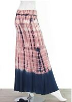 CLEARANCE!! Womens Long stretchy Skirt Maxi Fold Waist Tie dye comfortable small