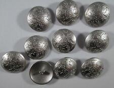 Metall  Knopf Knöpfe 10  stück silber  wappen   28 mm groß   #1406#
