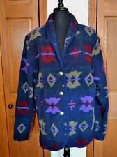 VTG Women's WOOLRICH Wool Indian Blanket Jacket Coat Southwestern  LARGE NM USA