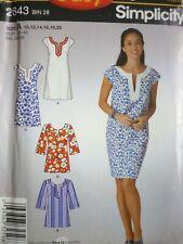 NEW SIMPLICITY KAFTAN STYLE DRESS OR TOP SEWING DRESSMAKING PATTERN