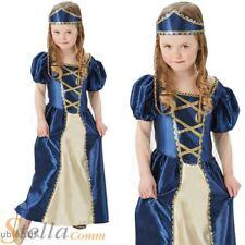 Girls Medieval Renaissance Princess Tudor Costume Kids Book Week Fancy Dress