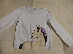 GIRLS SIZE 5 5TGYMBOREE COWGIRL AT HEART TOP SHIRT HORSE