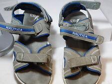 "Nautica Boys ""Jamestown"" Sport Sandals Youth 3 Grey Blue US 3 UK 2.5 EU 35"