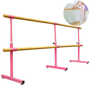 10FT Ballet Barre Freestanding Bar Double Bar Leg Stretching Dancing Training