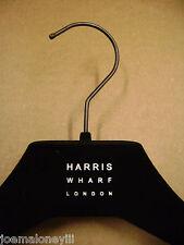 """HARRIS WHARF LONDON  DRESS / SHIRT BLACK VELVET FELT HANGERS 14 1/4 """" SET 20"""